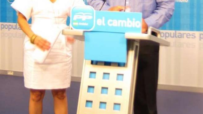 Ricardo Tarno Y Patricia Navarro En Rueda De Prensa Hoy