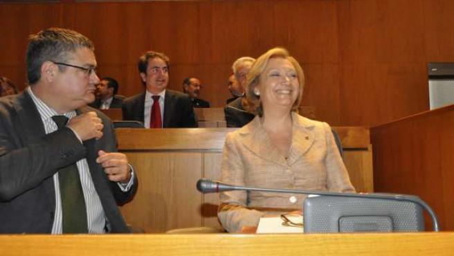 Luisa Fernanda Rudi Junto Al Diputado Antonio Torres