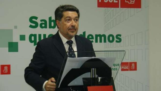 El Presidente De La Gestora Del PSOE De Almería, Javier Barrero.
