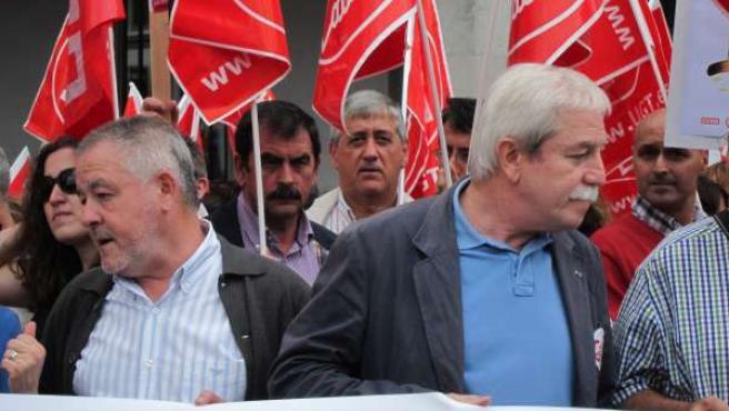 Antonio Pino Y Justo Rodríguez Braga En Una Movilización