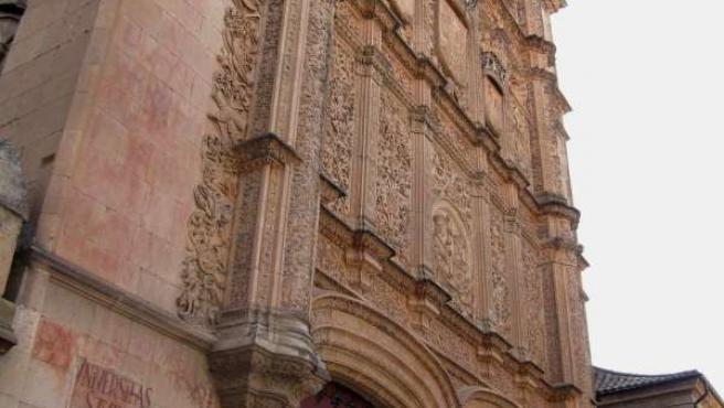 Fachada Histórica De La Universidad De Salamanca