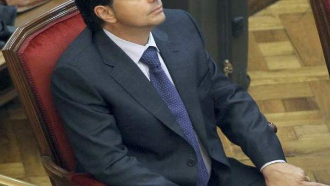 Lluís Corominas, en el banquillo de los acusados de la Audiencia de Barcelona.