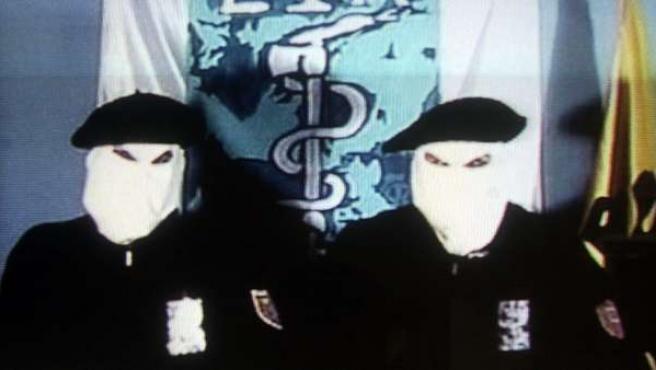 Imagen de archivo de un vídeo de la banda terrorista ETA.