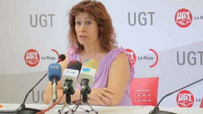 La Secretaria De Formación E Igualdad De UGT La Rioja, Teresa Rodríguez