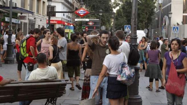 Imagen de la plaza de Lavapiés, en Madrid.