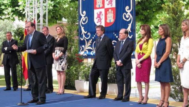 El Presidente De La Junta, Juan Vicente Herrera, Con Sus Consejeros