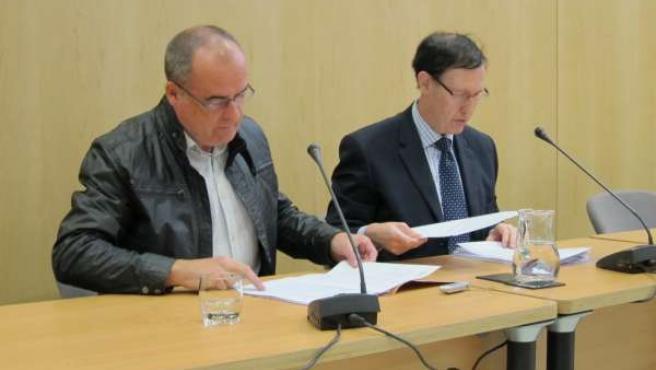 Los Parlamentarios Del PNV Joseba Egibar Y Ricardo Gatzagaetxebarria