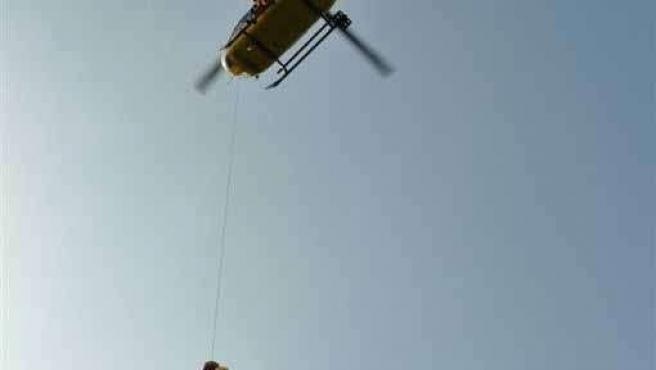 Imagen Del Rescate En Helicóptero.