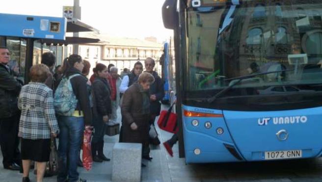 Autobus urbano en Toledo