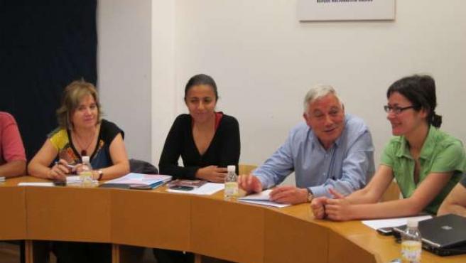 Guillerme Vázquez Charla Con Integrantes De La Executiva Del BNG