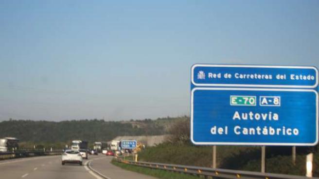 Tráfico por la A8- Autopista 'Y'