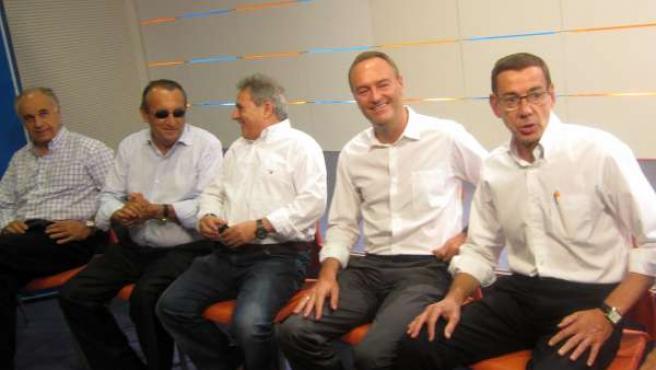 Blasco, Carlos Fabra, Rus, Alberto Fabra Y Clemente Durante La Reunión