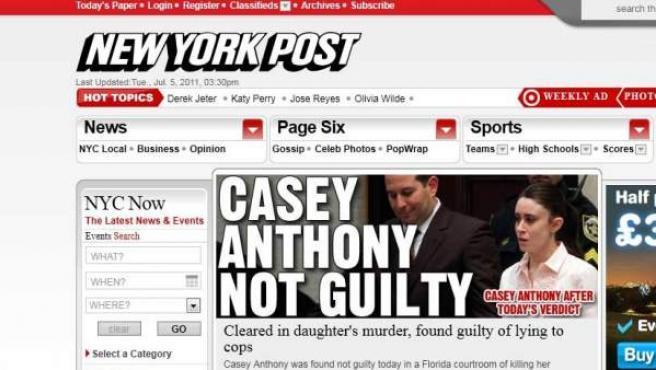 Imagen de la web del New York Post.
