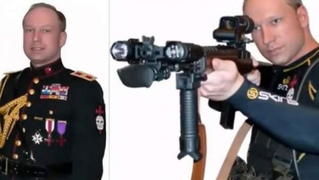Retrato del sospechoso de la masacre de Noruega, Anders Behring Breivik, tal y como aparece en el manifiesto en el que explica la planificación del atentando.