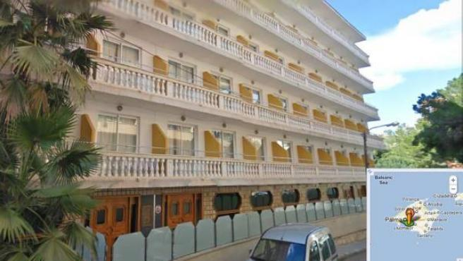 Imagen del hotel en donde ha tenido lugar la fuga de monóxido de carbono y han tenido que ser desalojas cerca de 500 personas.