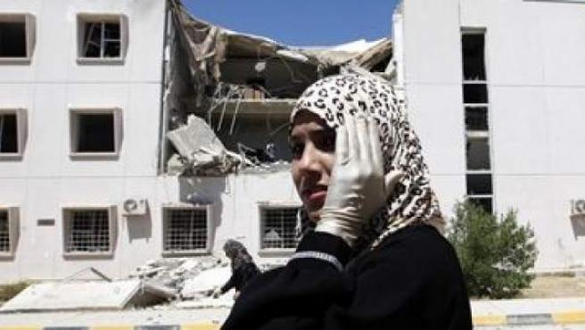 Bombardeo en Libia.