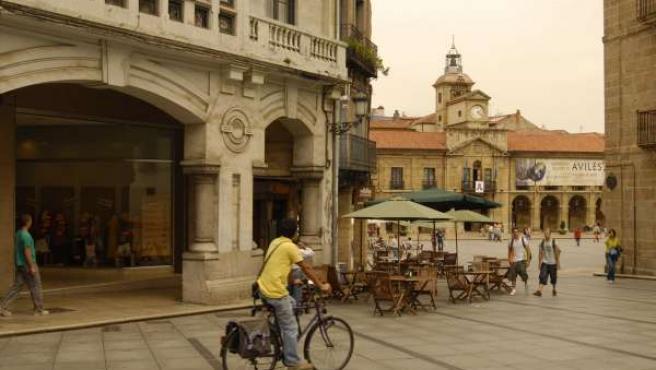 Imagen del centro de la ciudad asturiana de Avilés