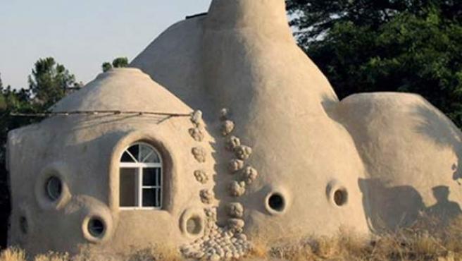 Una de las casas construidas por Manos a la Tierra.