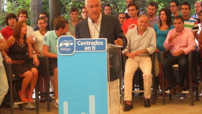 El Presidente Del PP Andaluz, Javier Arenas