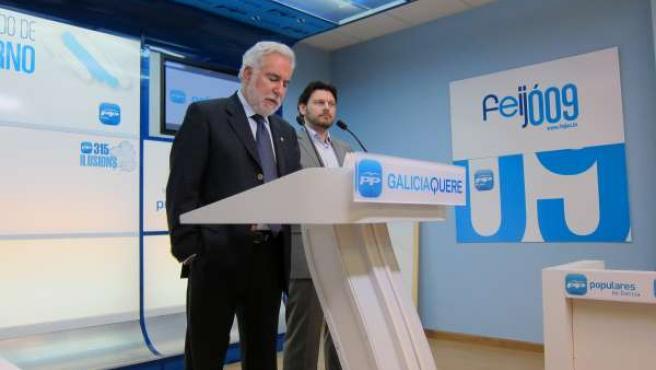 Miguel Santalices, en rueda prensa