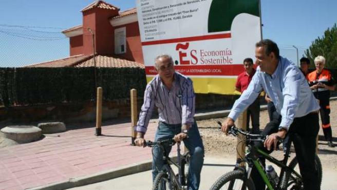 El Subdelegado Y El Alcalde De Zaratán Inaguran La Nueva Vía Verde