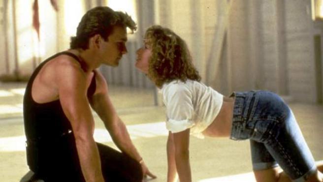 Patrick Swayze y Jennifer Grey, en una escena de 'Dirty Dancing'.
