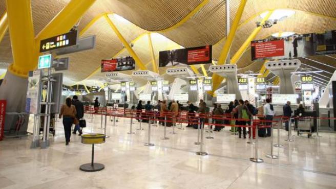 El interior del aeropuerto de Barajas.