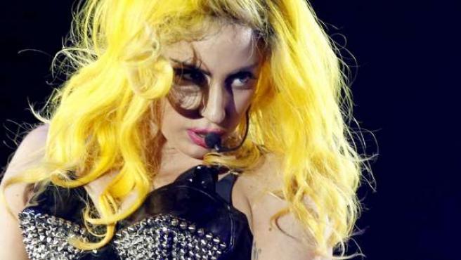 Lady Gaga, durante un concierto en Zurich (Suiza).