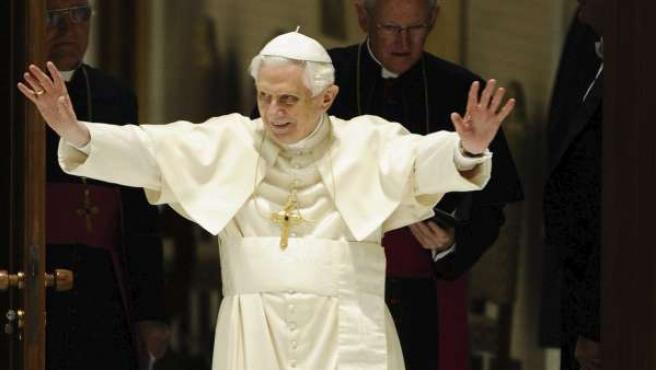 El papa Benedicto XVI durante un acto.
