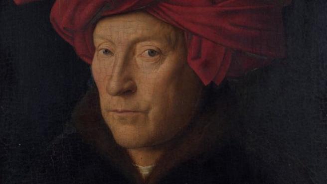 Se supone que este óleo es un autorretrato de Van Eyck, pintado en 1443. El marco también fue realizado por el pintor