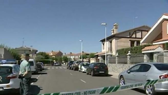 Imagen del centro de acogida de Boecillo (Valladolid) donde han sido hallados los cuerpos sin vida de tres menores. Una monitora del centro ha sido detenida.
