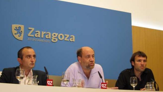 Los Tres Concejales De IU En El Ayuntamiento De Zaragoza