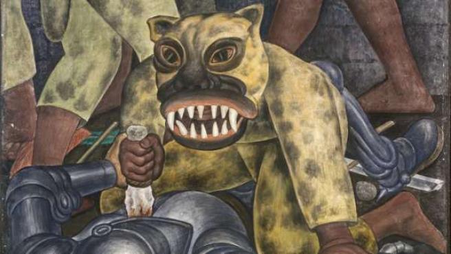 Uno de los 'murales portátiles' de Rivera