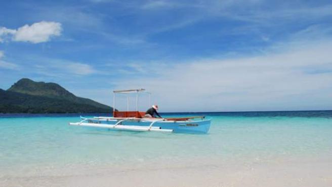 Playa de White Island, en Camiguin (Filipinas).