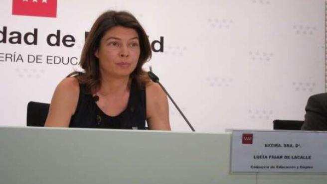 Lucía Figar, consejera de Educación de la Comunidad de Madrid.
