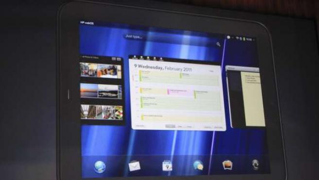 Imagen de la presentación de la tableta HP TouchPad.
