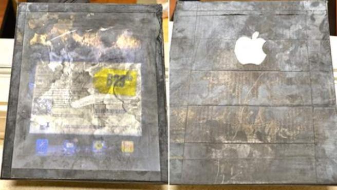 iPad de madera utilizado por un par de estafadores.