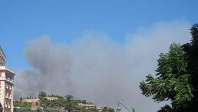 Incendio En Los Montes De Málaga