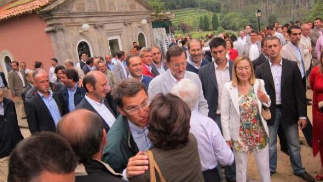 Rajoy Y Feijóo En Soutomaior