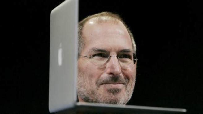 Fotografía de archivo de Steve Jobs.