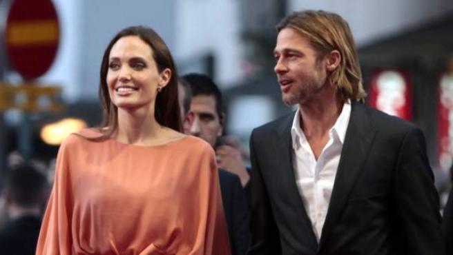 Angelina Jolie con Brad Pitt, en Sarajevo.