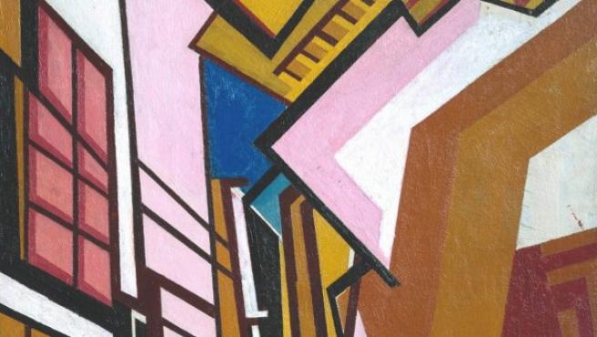 Cuadro del líder de los vorticistas, el pintor Wyndham Lewis
