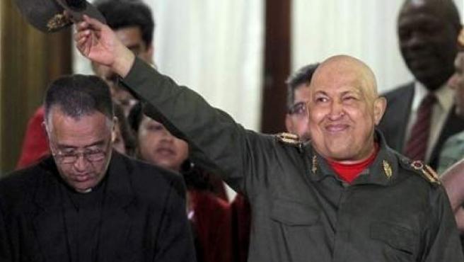 """Hugo Chávez dijo que está en condiciones """"inmejorables"""" tras finalizar la tercera ronda de quimioterapia."""