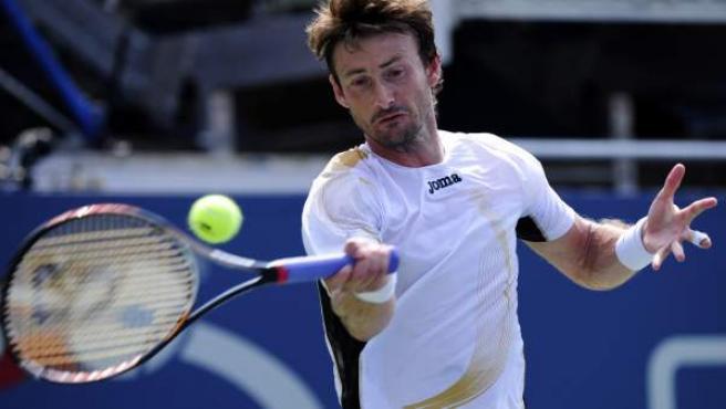 Juan Carlos Ferrero durante el partido del US Open ante Marcel Granollers.