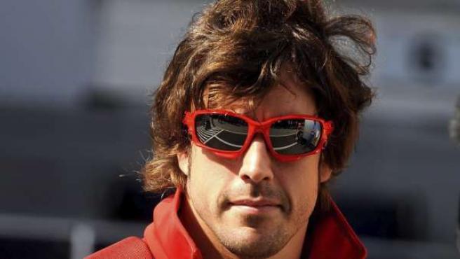 El piloto español de Fórmula 1 Fernando Alonso, de la escudería Ferrari.