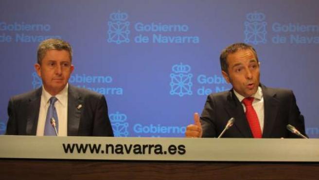 Los Consejeros Álvaro Miranda Y Juan Luis Sánchez De Muniáin.