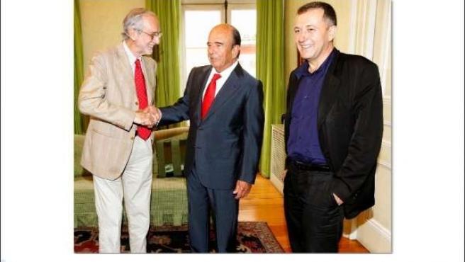 Emilio Botín, Renzo Piano Y Vicente Todolí