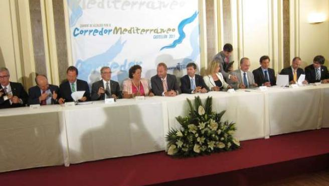 Cumbre En Castellón De Alcaldes Para Reivindicar El Corredor Mediterráneo