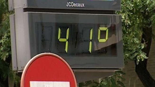 Termómetro a 41 grados