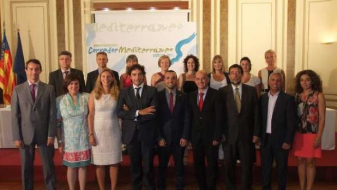 Miembros Del PSPV En La Cumbre Por El Corredor Mediterráneo